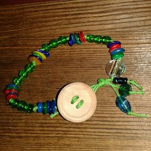💖BEST OFFER💖Button and Beads Beaded Bracelet